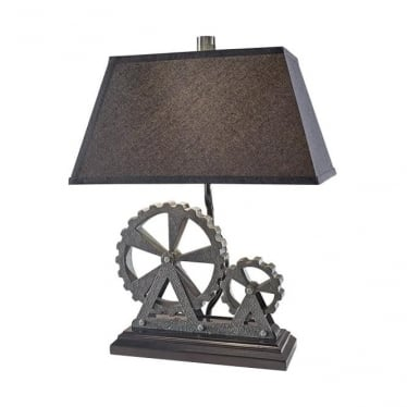 Old Industrial Table Lamp Midnight Pearl