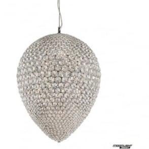 Olivio Large Pendant Clear Crystal Dimmable