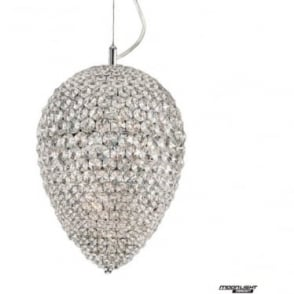 Olivio Medium Pendant Clear Crystal Dimmable