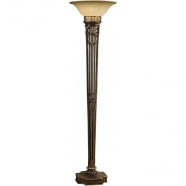 Opera Gold Torchiere Floor Lamp