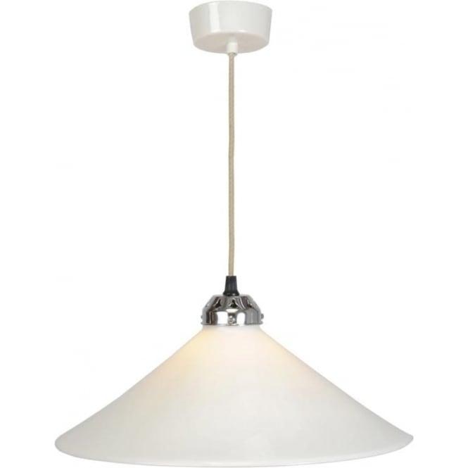 Original BTC Lighting Cobb Large plain pendant light - white