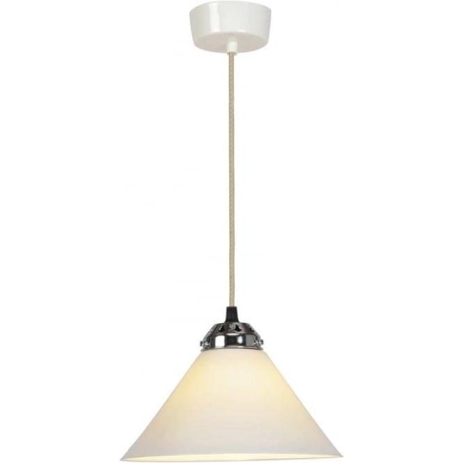 Original BTC Lighting Cobb small plain pendant light - white