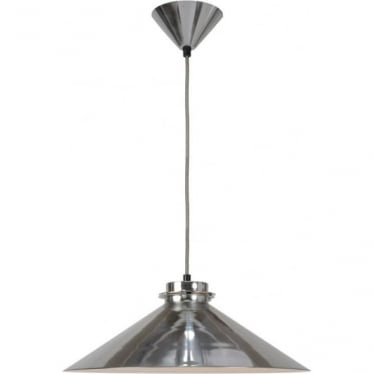 Codie pendant light - polished aluminium