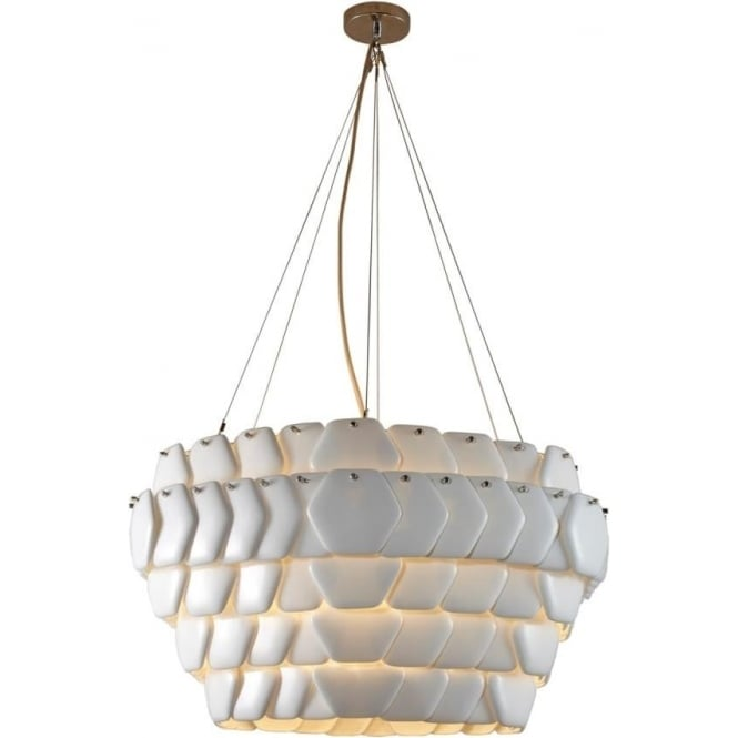 Original BTC Lighting Cranton Hexagonal Pendant Light (760mm) Sand and Taupe Braided Cable