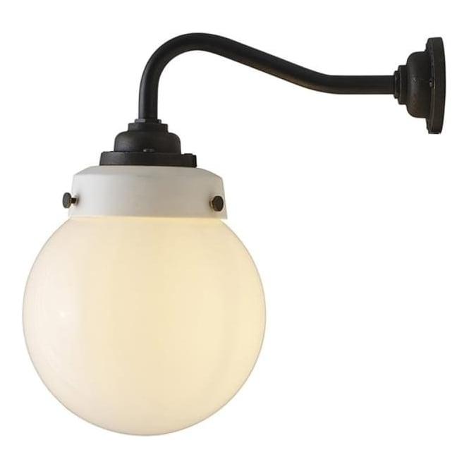 Original BTC Lighting Hampton wall light size 1 - opal and weathered brass