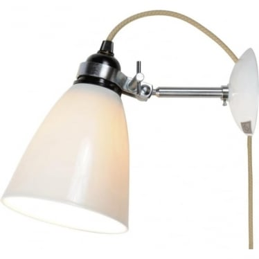 HECTOR MEDIUM DOME WALL LIGHT Plug, Switch and Cable - colour options
