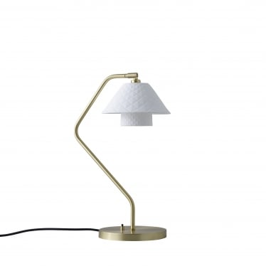 Oxford Double Desk Light - Satin Brass