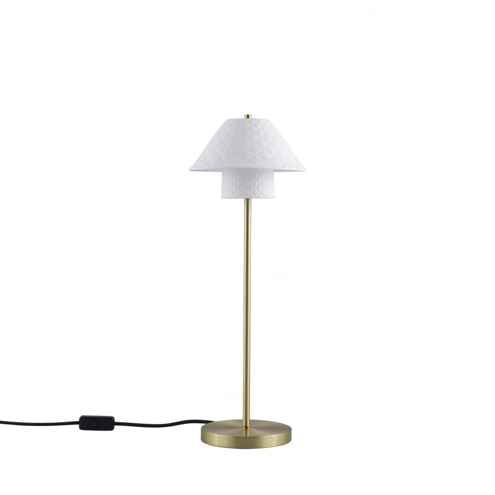 Oxford Double Table Light   Satin Brass