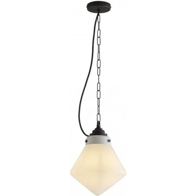 Original BTC Lighting Point pendant - opal and weathered brass