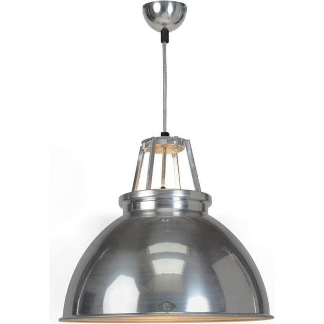 Original BTC Lighting Titan Pendant Light  - size 3 - Natural Aluminium