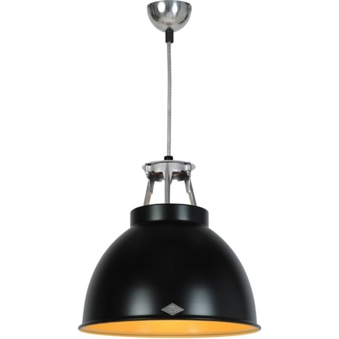 Original BTC Lighting Titan Pendant Light with Coloured Interior - size 1 - colour options