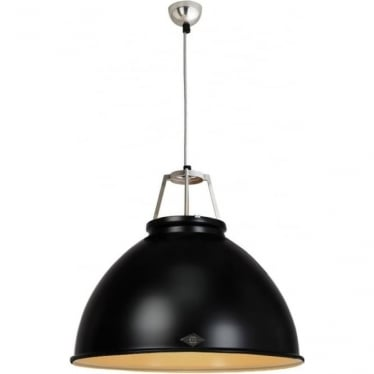 Titan Pendant Light with Coloured Interior - size 5 - colour options