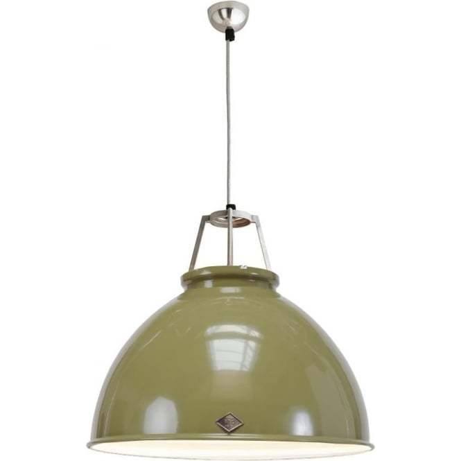Original BTC Lighting Titan Pendant Light with White Interior - size 5 - colour options