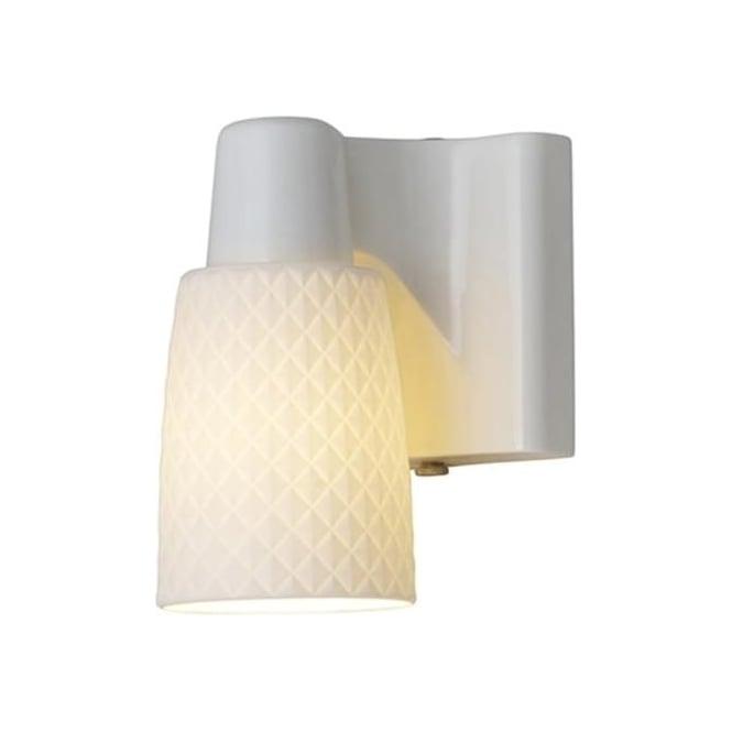 Original BTC Lighting Oxford 1 bone china wall light - Natural