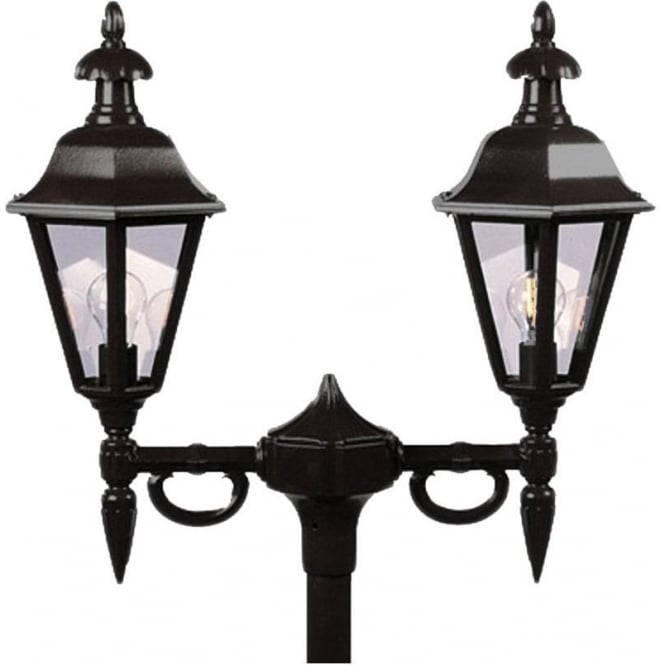 Konstsmide Garden Lighting Pallas twin head - black 527-750