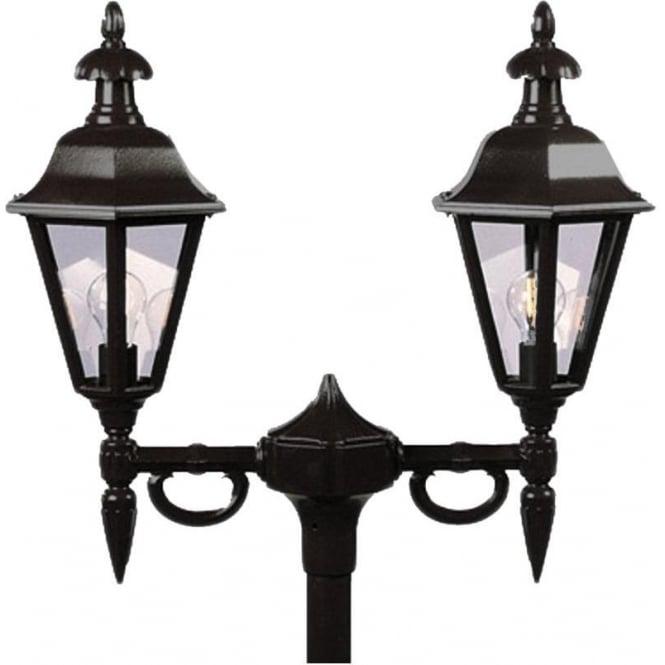 Konstsmide Garden Lighting Pallas twin head - black 527-750
