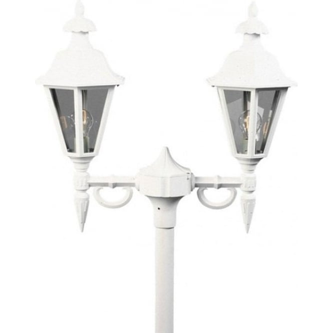Konstsmide Garden Lighting Pallas twin head - white 527-250
