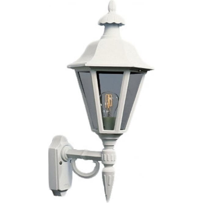 Konstsmide Garden Lighting Pallas wall up light - white 481-250
