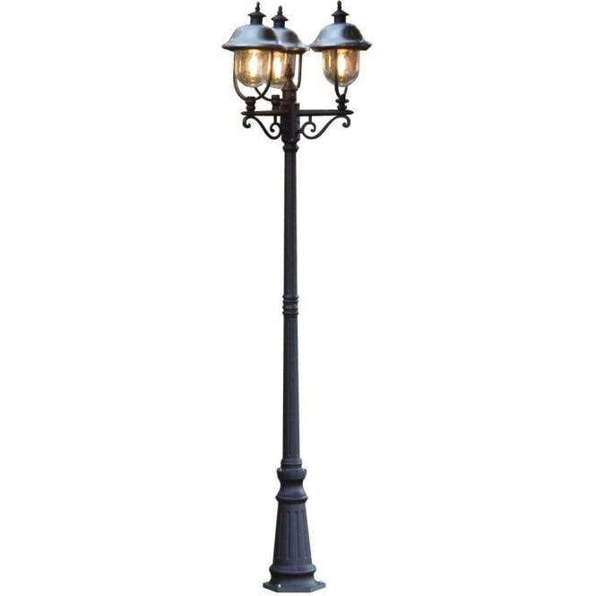 Konstsmide Garden Lighting Parma triple head - black 7243-000