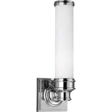Payne Single Bathroom LED Wall Light IP44 Polished Chrome