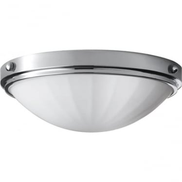 Perry Flush Mount Fitting Light Polished Chrome
