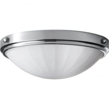 Perry Flush Mount Fitting Light Polished Chrome