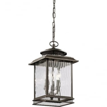 Pettiford Large Chain lantern - Olde Bronze