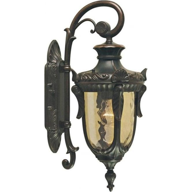 Elstead Lighting Philadelphia Wall Down Lantern Medium - Old Bronze