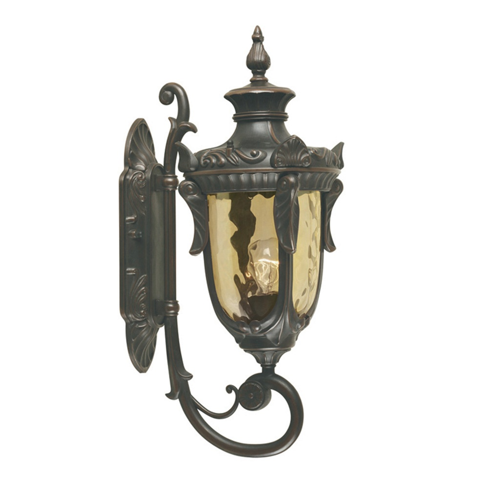 elstead lighting philadelphia wall up lantern medium old bronze