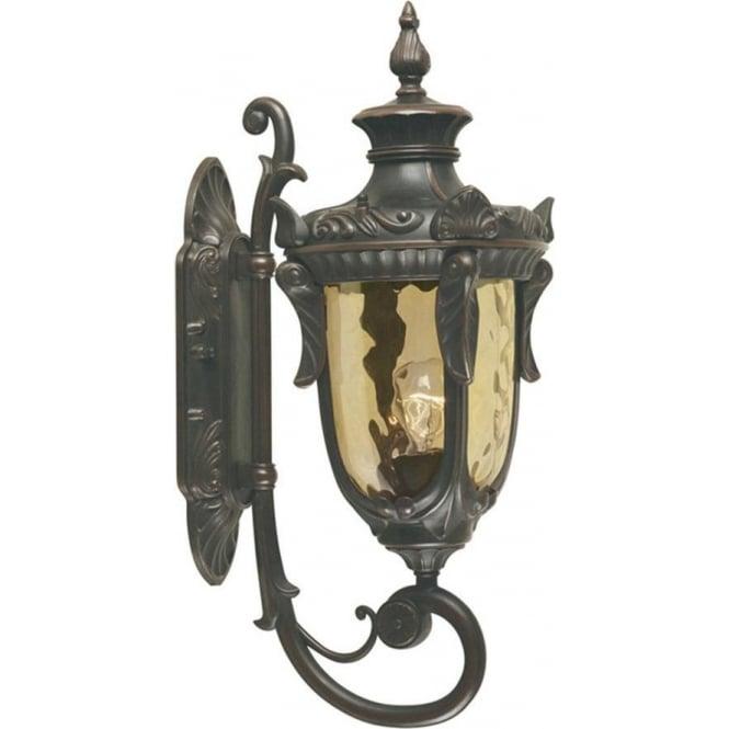 Elstead Lighting Philadelphia Wall Up Lantern Medium - Old Bronze