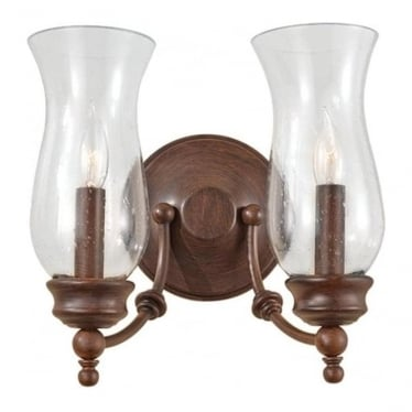 Pickering Lane 2 light Wall Fitting Heritage Bronze