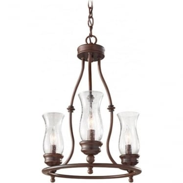 Pickering Lane 3 Light Chandelier Heritage Bronze