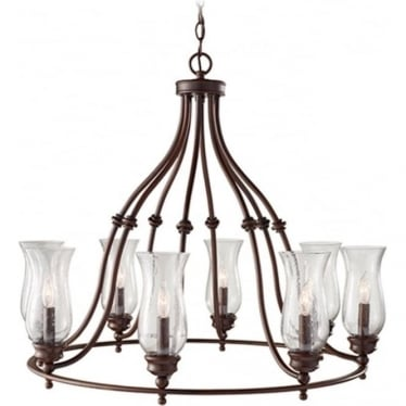 Pickering Lane 8 Light Chandelier Heritage Bronze