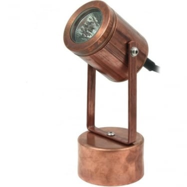 Pond light with weighted base - copper - Low Voltage