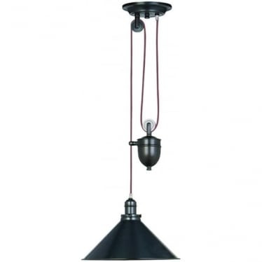 Provence Single light Rise and Fall Pendant Old Bronze