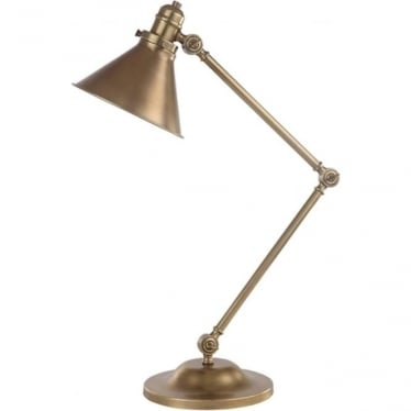 Provence Table Lamp Aged Brass