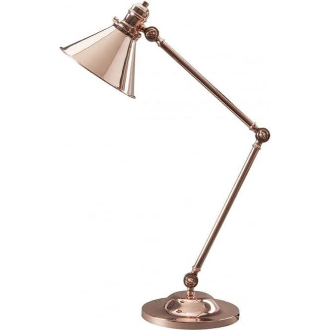 Elstead Lighting Provence Table Lamp Polished Copper