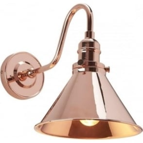 Provence Wall Light Polished Copper