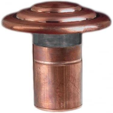PURE LED Deck Light - copper - Low Voltage