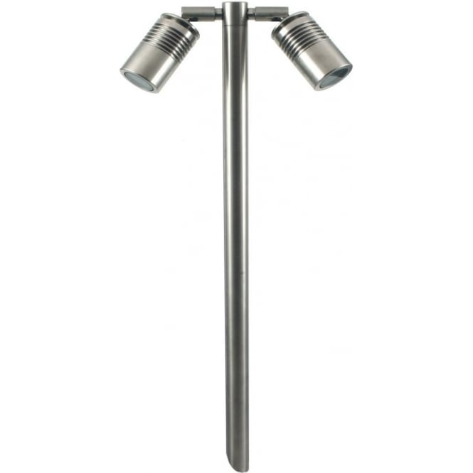 Hunza Outdoor Lighting PURE LED Euro Twin Pole Light Retro - stainless steel - MAINS