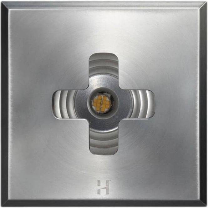 Hunza Outdoor Lighting PURE LED Floor Light Cross Square - stainless steel - Low Voltage