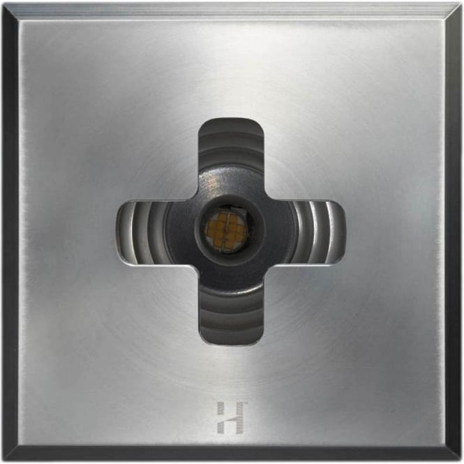 Hunza Outdoor Lighting PURE LED Floor Light Dark Lighter Cross Square - stainless steel - Low Voltage