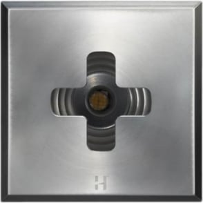 PURE LED Floor Light Dark Lighter Cross Square - stainless steel - Low Voltage