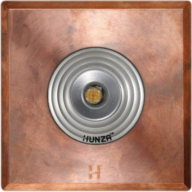 Hunza Outdoor Lighting PURE LED Floor Light Spot Square - copper - Low Voltage