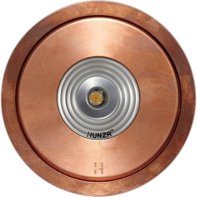 Hunza Outdoor Lighting PURE LED Flush Floor Light - copper - Low Voltage
