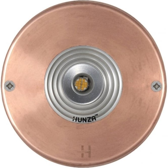 Hunza Outdoor Lighting PURE LED Step Light - copper - Low Voltage