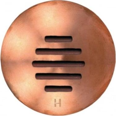 PURE LED Step Light Louvre - copper - Low Voltage