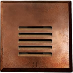 PURE LED Step Light Louvre Square - copper - Low Voltage