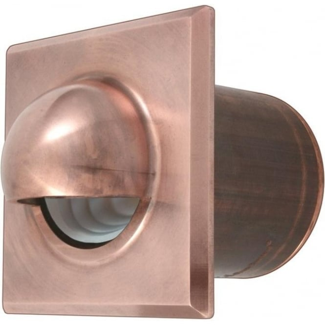 Hunza Outdoor Lighting PURE LED Step Light Seamless Eyelid Square - copper - Low Voltage