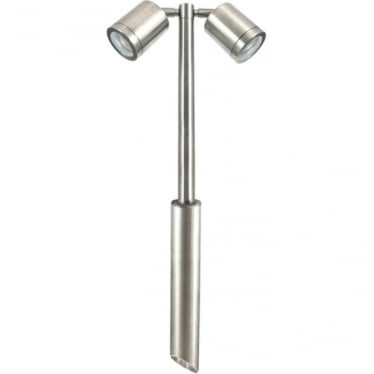 PURE LED Twin Pole Light Retro - stainless steel - MAINS